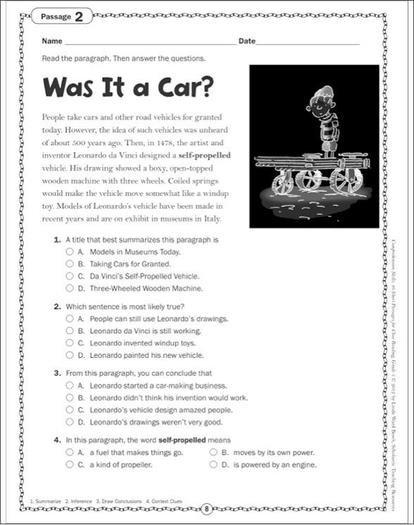 Comprehension Skills: 40 Short Passages for Close Reading ...