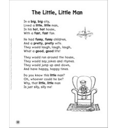 The Little, Little Man (Synonyms): Sight Words Poem