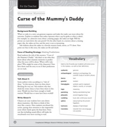 Comprehension Cliffhanger Mystery: Curse of the Mummy's Daddy (making predictions)