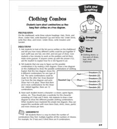 Clothing Combos (Making combinations): Data and Graphing Activity