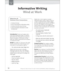 Wind at Work (Informative): Grade 3 Common Core Writing Lesson
