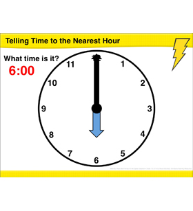Math Review: Telling Time to the Nearest Hour and Half Hour