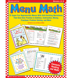math worksheet : menu math printable worksheets  educational math activities : Menu Math Worksheet