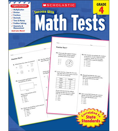 Scholastic Success With Math Tests: Grade 4