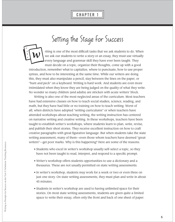 writing to prompts for success on the test by mary rose writing to prompts for success on the test