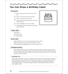 Draw A Birthday Cake In 6 Steps Follow The Directions