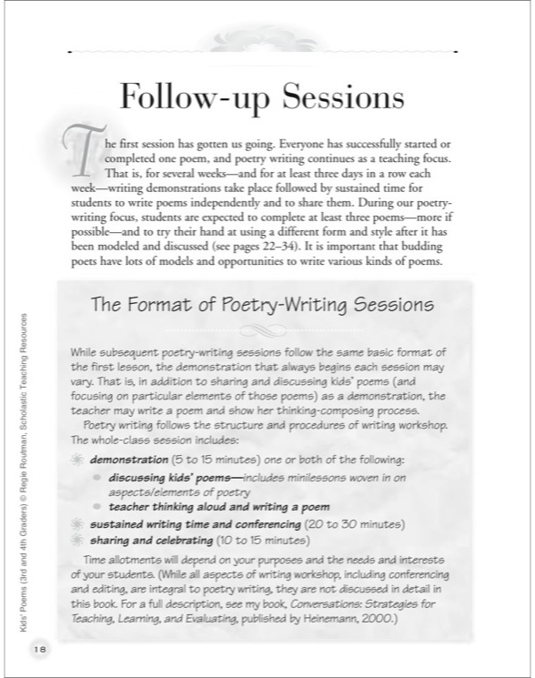 Kids' Poems: Grades 3 and 4: Teaching Third and Fourth Graders to Love Writing Poe