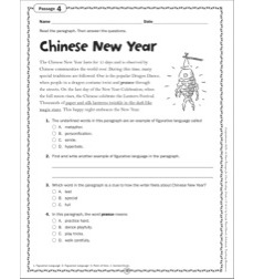 Chinese New Year: Grade 4 Close Reading Passage by