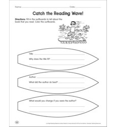 Catch the Reading Wave! Reading Response Graphic Organizer by