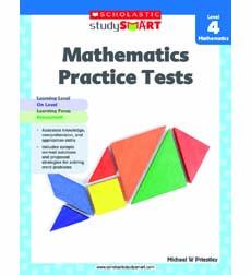 Image of Scholastic Study Smart Mathematics Practice Tests Level 4