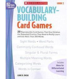 Vocabulary–Building Card Games: Grade 2