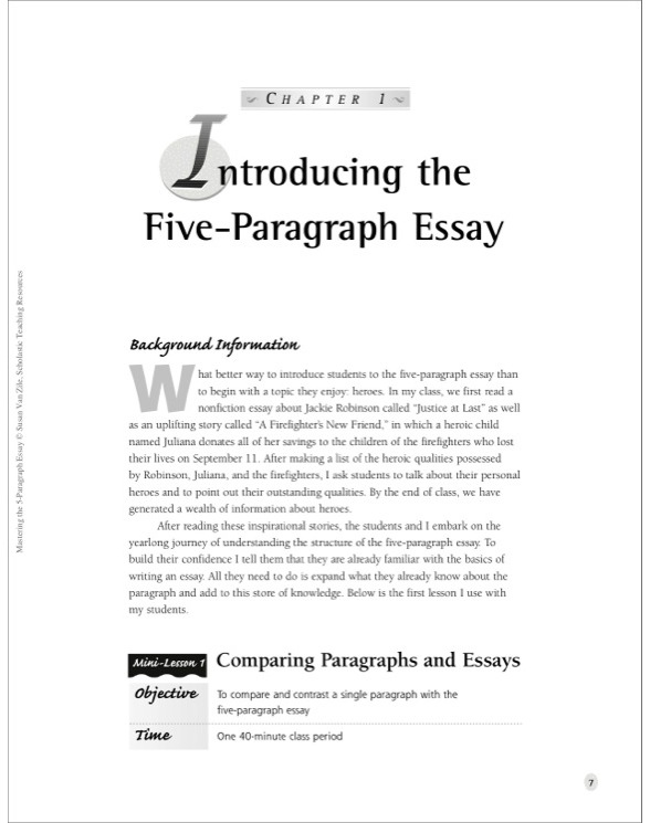 Mastering The Paragraph Essay By Susan Van Zile See Inside Image Custom Essay Papers also Argumentative Essay Papers  How To Write A High School Application Essay