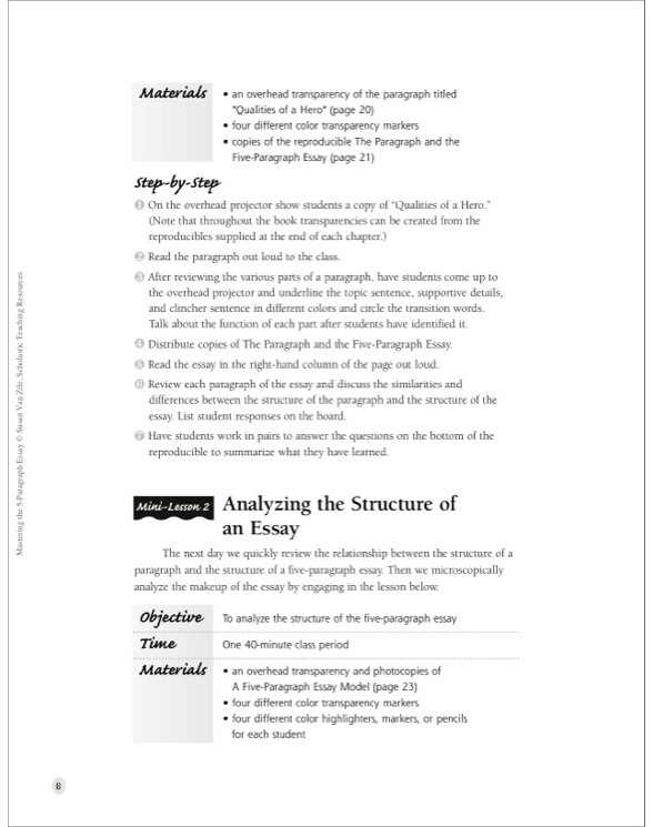 mastering the five paragraph essay scholastic teaching resources By using graphic organizers across all subject areas, you will be empowering your students to master subject-matter faster and more efficiently five-paragraph essay graphic organizers check out our extensive collection of resources for teaching and celebrating this festive holiday.