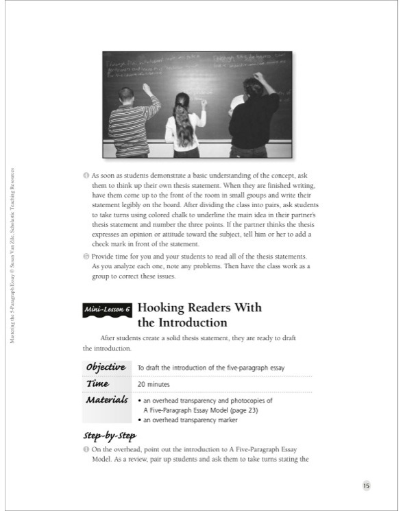 5 paragraph essay on a book Bookrags articles how to write a five paragraph essay: how to write a five paragraph essay essays come in various forms, as do subjects, professors, writing styles if you are writing about a particular book, author, or event, you should name it (in entirety.