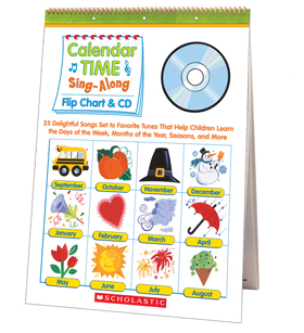 Calendar Time Sing–Along Flip Chart & CD