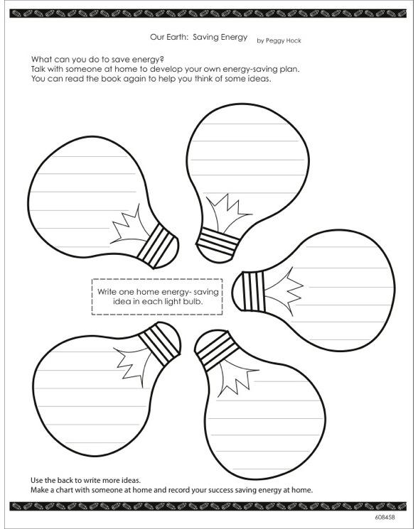 Energy Conservation Worksheet - Karibunicollies