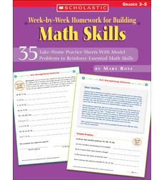 week by week homework for building math skills by mary c rose. Black Bedroom Furniture Sets. Home Design Ideas