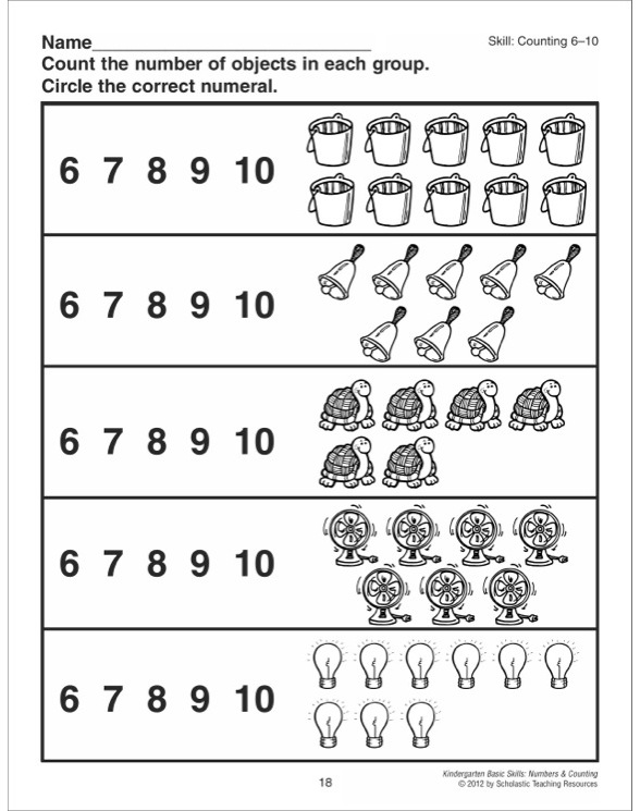 kindergarten basic skills numbers counting by betsy franco. Black Bedroom Furniture Sets. Home Design Ideas