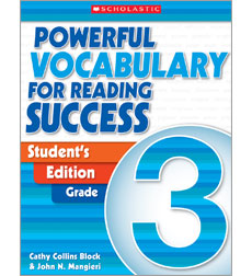 Powerful Vocabulary for Reading Success: Student Workbook Grade 3