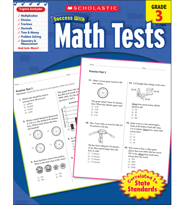 Scholastic Success With Math Tests: Grade 3