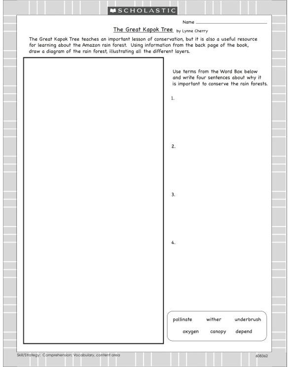 The Great Kapok Tree Worksheets - Rringband