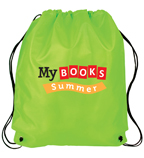 My Books Summer Drawstring Bag - Lime