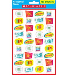 Comic Strip Words Stickers