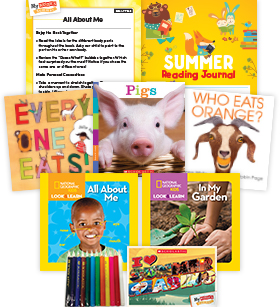 My Books Summer Grade PreK Nonfiction Pack