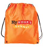 My Books Summer Drawstring Bag - Orange