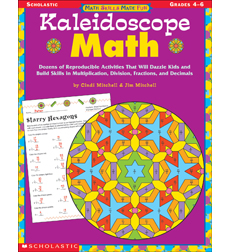 Worksheets Scholastic Math Worksheets kaleidoscope math grades 4 6 by cindi mitchelljim mitchell 6