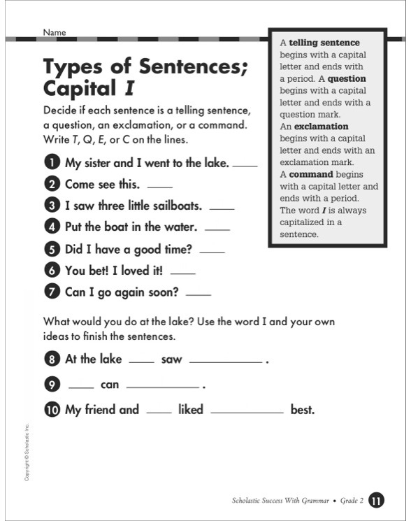 Scholastic Success With Grammar Grade 2 By border=