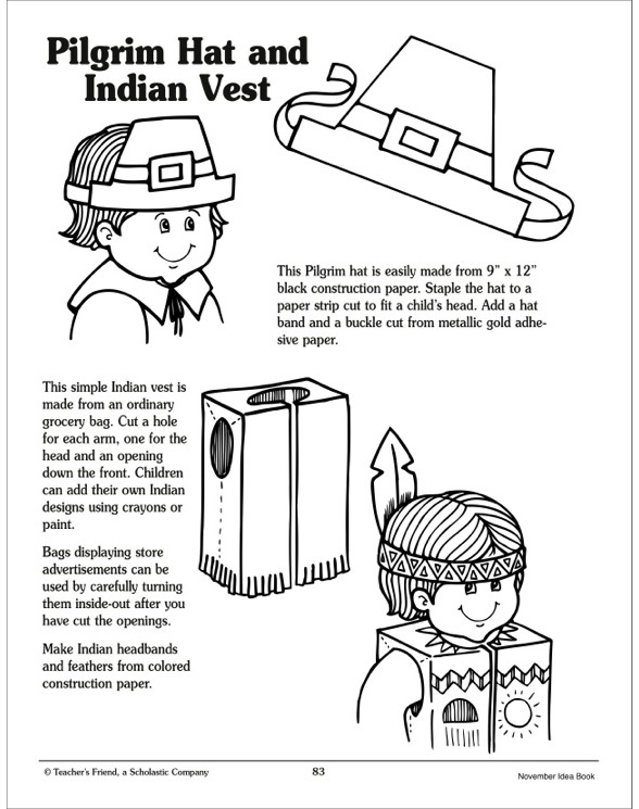 Pilgrim And Indian Clothing Activity By