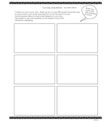 Comic Guy: Our Crazy Class Election - Activity Sheet