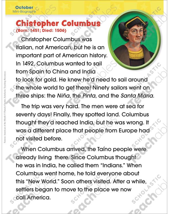 Short essay on christopher columbus