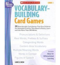 Vocabulary–Building Card Games: Grade 5