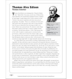 Product : Thomas Alva Edison: Nonfiction Passage ...
