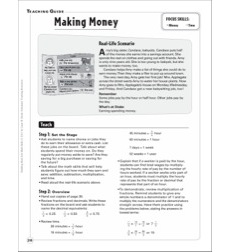 Making Money (Money/Time): Building Real-Life Math Skills