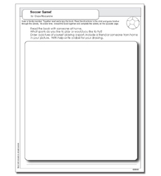 Scholastic Reader, Level 1: Soccer Game! - Activity Sheet