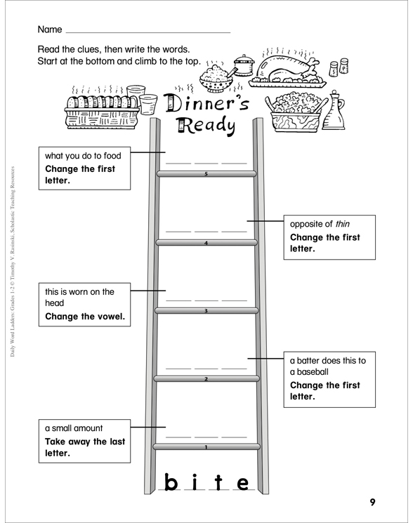 daily word ladders grades 4 6 pdf