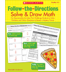 Follow-the-Directions: Solve & Draw Math: Grades 3-5