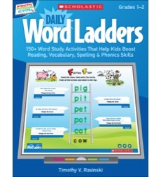 Interactive Whiteboard Activities: Daily Word Ladders Grades 1 - 2