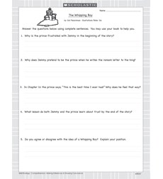 Whipping Boy, The - Activity Sheet