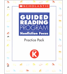 Guided Reading Nonfiction Focus: Level K, Practice Pack