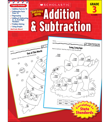 Scholastic Success With Addition & Subtraction: Grade 3