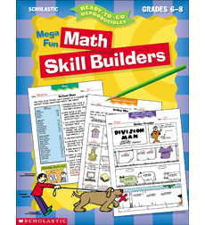 Mega Fun Math Skill Builders: Grades 6-8