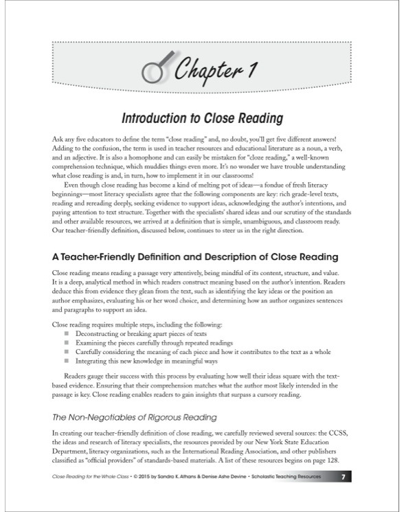 close reading definition