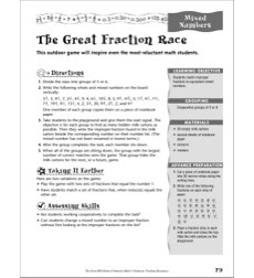 Fractions: Mixed Numbers (The Great Fraction Race)