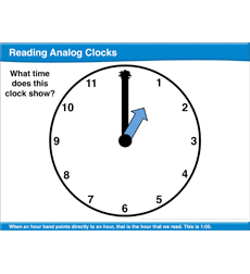 Reading Analog Clocks: Math Lesson