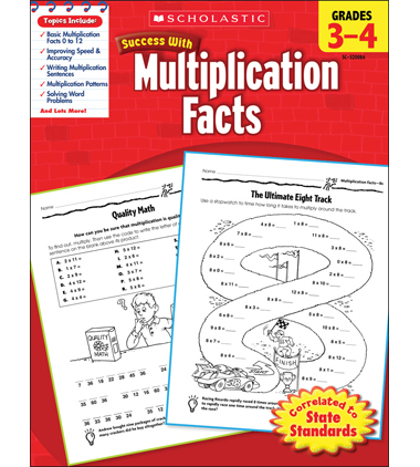 Scholastic Success With Multiplication Facts: Grades 3-4