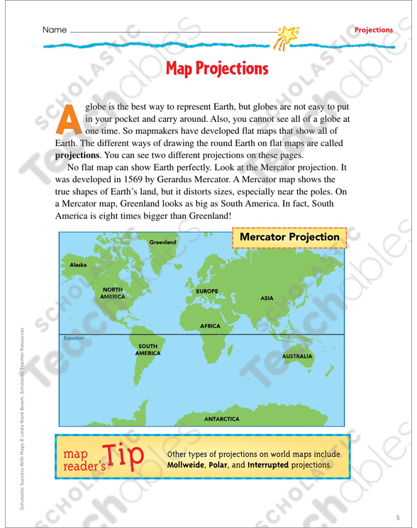 Map Skills Grade 5 Differentiation Pack by
